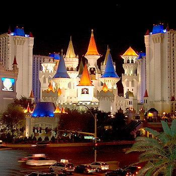 Hotel Excalibur v Las Vegas.